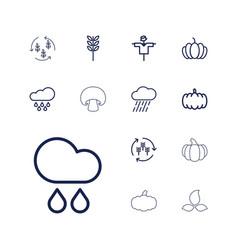 13 autumn icons vector