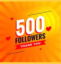 500 followers social media network background vector