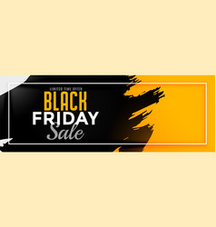 Abstract yellow black friday sale banner design vector
