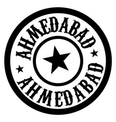 Ahmedabad stamp on white isolated vector
