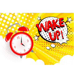 alarm clock ringing wake vector image