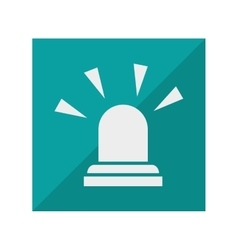 alarm siren isolated icon vector image