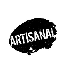 Artisanal rubber stamp vector