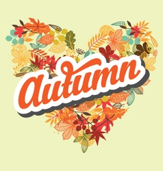 Autumn background with retro typography element vector