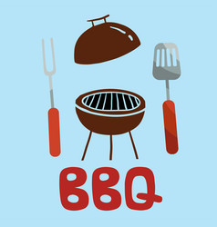 bbq turner fork grill background image vector image