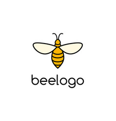 bee icon honey logo simple vector image