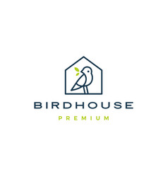 Bird house logo icon vector