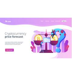 Bitcoin price prediction concept landing page vector
