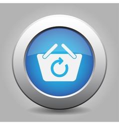 Blue button - shopping basket refresh vector