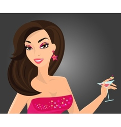 Brunette woman vector image