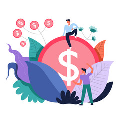 Business making money and investment activities vector