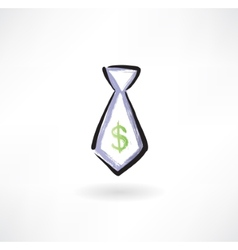 Business tie grunge icon vector