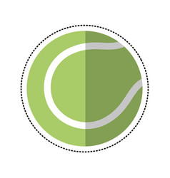 cartoon tennis ball racket sport icon vector image