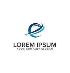 cative modern letter e logo design concept vector image