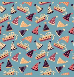 celebratory seamless pattern birthday pattern vector image
