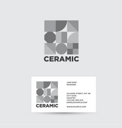 Ceramic logo ceramic tiles shop vector