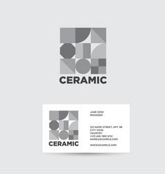 Ceramic logo tiles shop vector