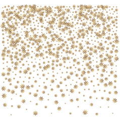 christmas golden snowflake background vector image vector image