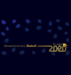 Class 2020 congratulation graduate vector
