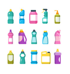 Cleaning household products chemical cleaners vector