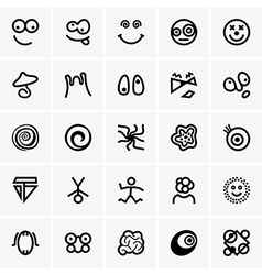 Crazy icons vector