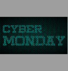 cyber monday effect label vector image