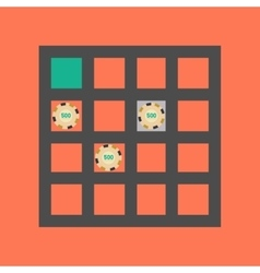Flat icon on stylish background poker table vector