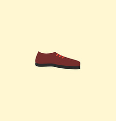 Flat icon shoe element of vector