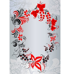 Floral patterns in Russian style Khokhloma vector image