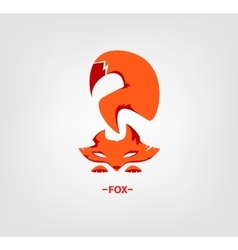 fox logo on white background vector image