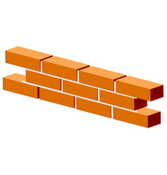 Fragment of brick wall - brickwork visual vector