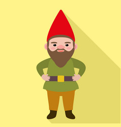 gnome icon flat style vector image