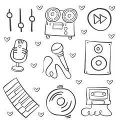 Hand draw musical instrument art vector