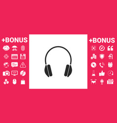 headphones icon symbol vector image