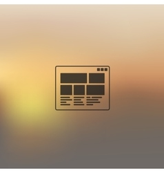Interface icon on blurred background vector