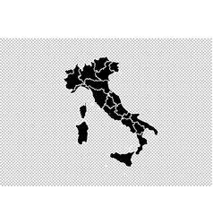 italy map - high detailed black map with vector image