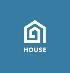 letter a real estate house logo icon design vector image