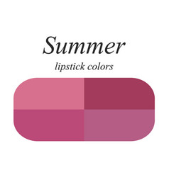 Lipstick colors for summer type vector