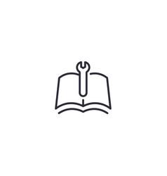 Manual line icon vector