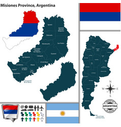 Map of misiones province argentina vector