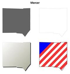 Mercer Map Icon Set vector