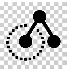 Molecule structure icon vector