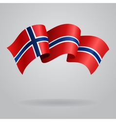 Norwegian waving Flag vector image