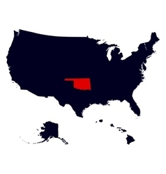 oklahoma state in united states map vector image