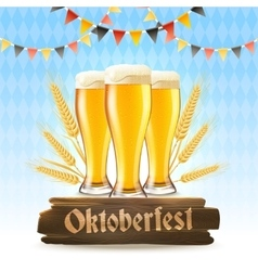 Oktoberfest Poster Realistic vector image