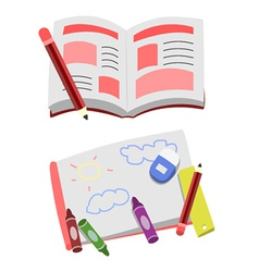 Opened Book Cartoon Clip Art vector