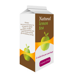 Pack of tea vector