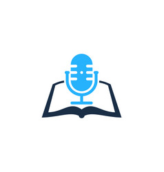 Page podcast logo icon design vector