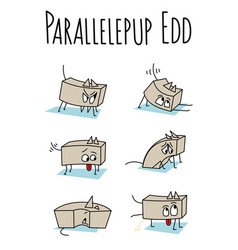 parallelepup edd vector image