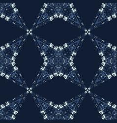 Patchwork star mosaic tile motif seamless vector